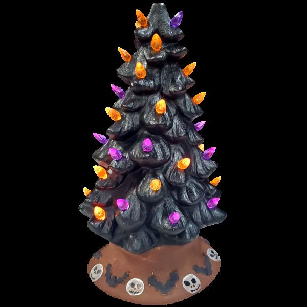 Halloween Light Up Christmas Tree