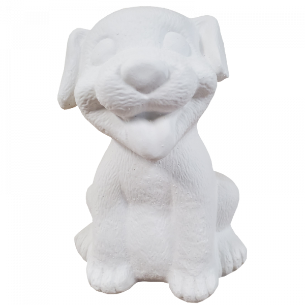Happy Puppy Statue Plaster Paint Kit