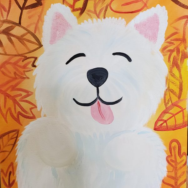 Puppy Canvas Painting