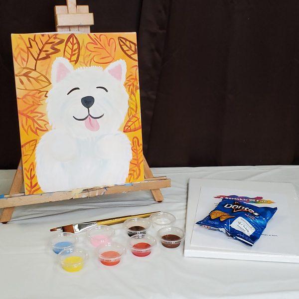 Puppy Virtual Canvas Lesson