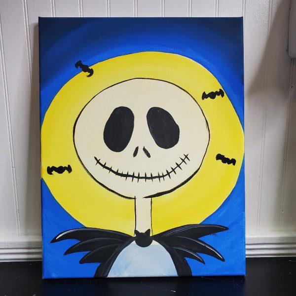 Skeleton Man Canvas Painting