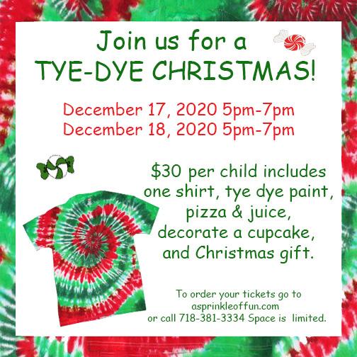 Tye Dye Children's Christmas Party