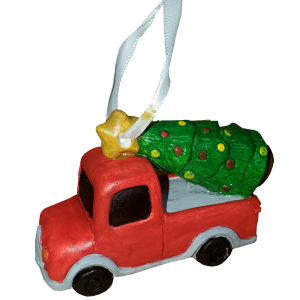 Christmas Tree Truck Ornament