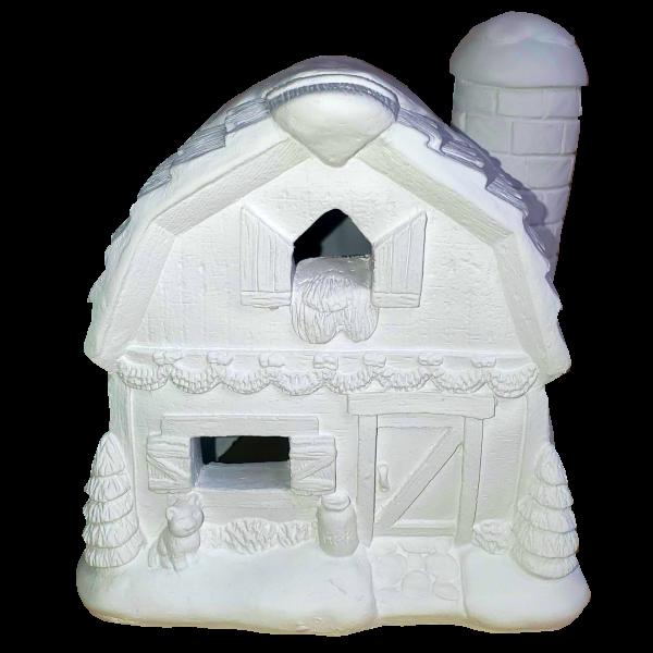Christmas Village Barn Light Up Plaster Paint Kit