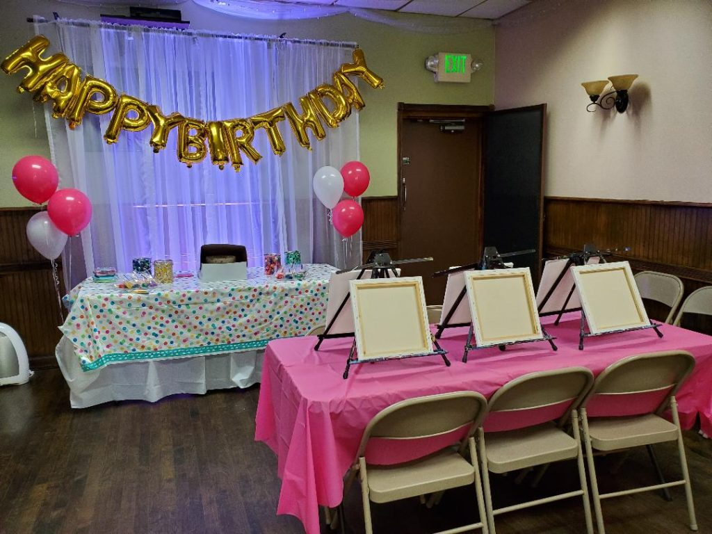 Party Room Setup for Canvas Party