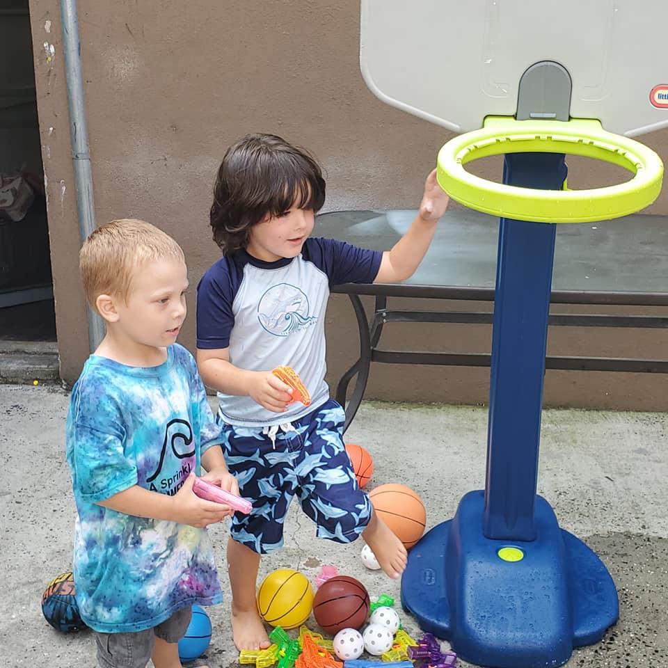 outdoor basketball after school