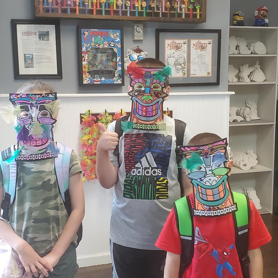 tiki mask children's art